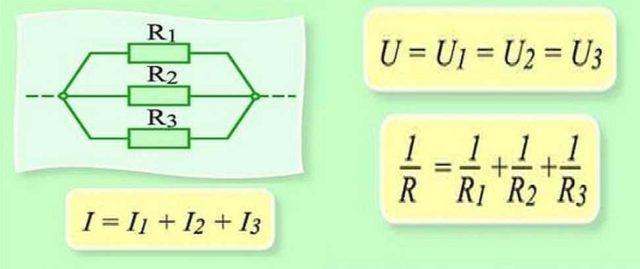 Законы для параллельного соединения