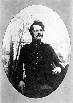 Вернер фон Сименс в форме офицера артиллерии (1843 г.)