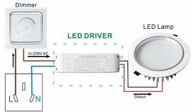 Как включить LED лампу постоянного тока через диммер
