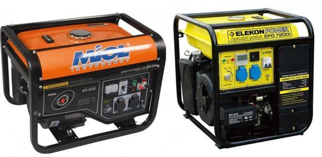Бензиновые генераторы тока оптимальны для работы на непродолжительны период времени