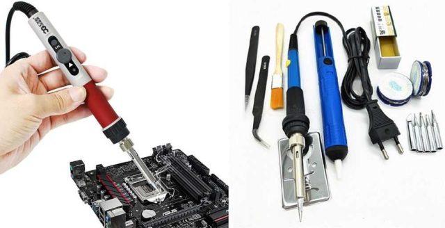 Обычно паяльник с регулятором температуры нужен для работы с небольшими деталями или специальным припоем
