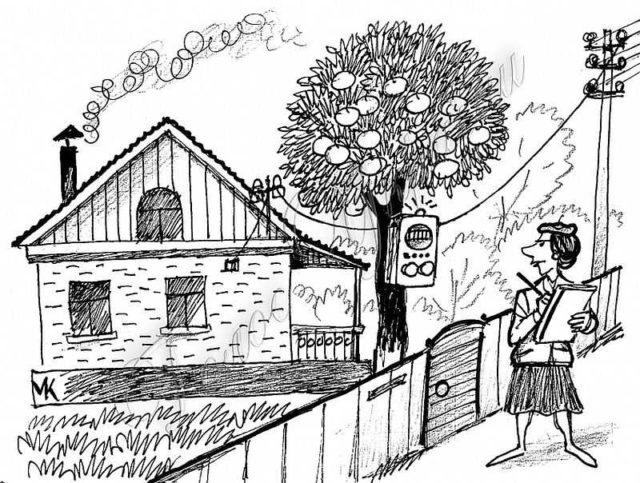 При подписании договора на составление проекта электрификации дома, можете указать, где хотите поставить счетчик электроэнергии