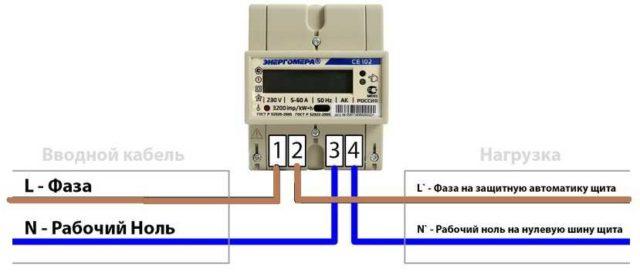 Как подключать провода к счетчикам на одну фазу