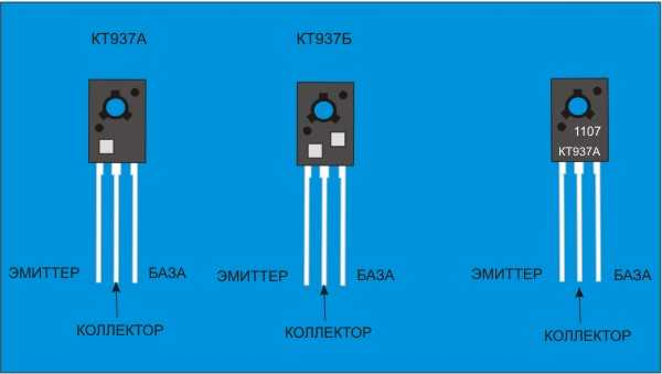 Внешний вид биполярного транзистора и его цоколевка