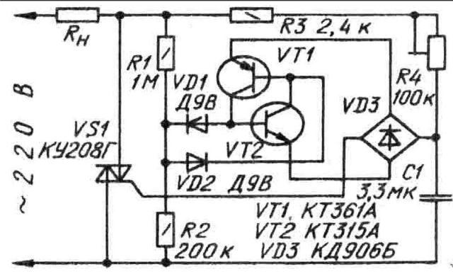 Схема регулятора паяльника на симисторе