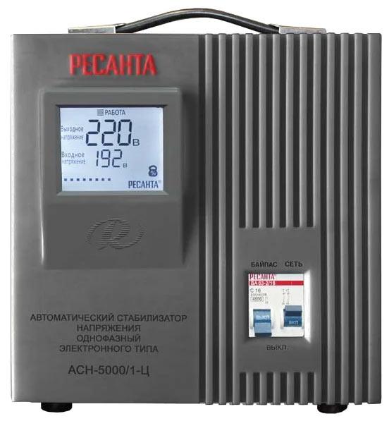 Стабилизатор напряжения РЕСАНТА ACH-5000/1-Ц (5 кВт)