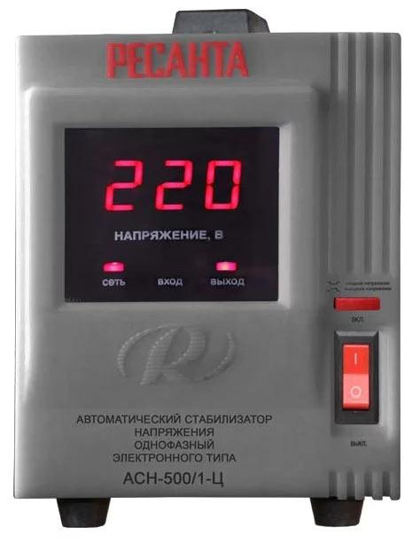 Стабилизатор напряжения РЕСАНТА ACH-500/1-Ц (0,5 кВт)