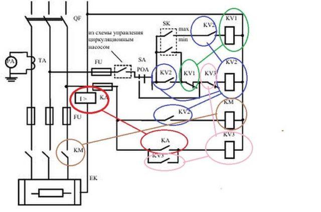 Электромагнтиные реле и их контакты на схемах