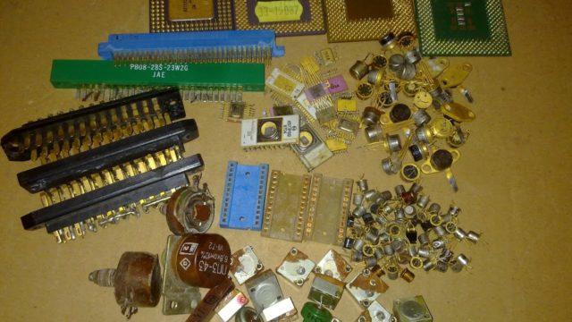 Драгметаллы в радиодеталях: в конденсаторах разъемах микросхемах