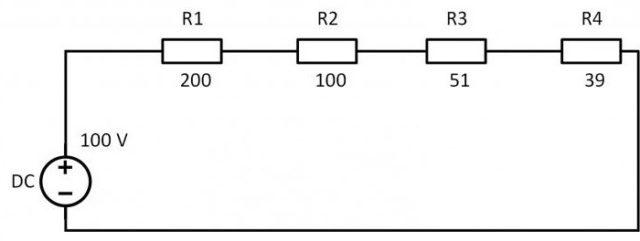 Пример расчета мощности резистора для схемы