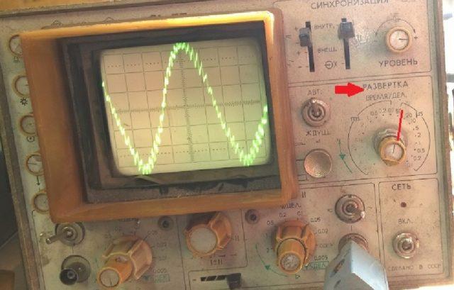Рассчет частоты по осциллографу