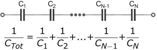 Как подключать конденсаторы последовательно