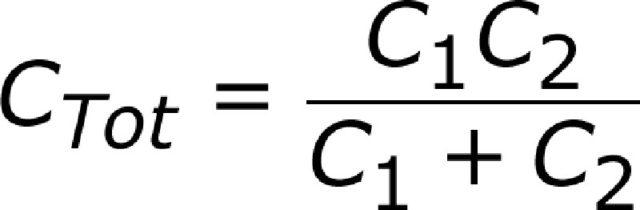 Как считать емкость при последовательном соединении