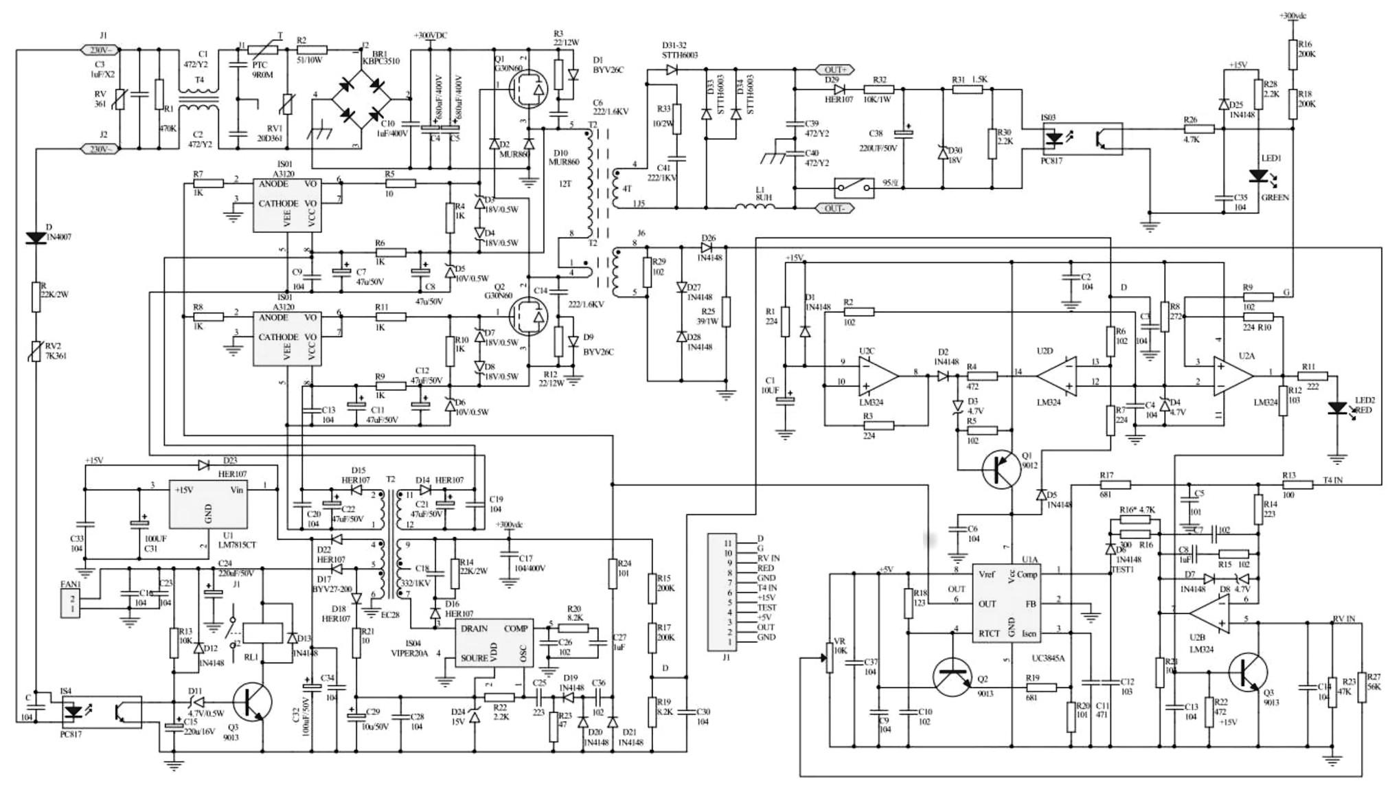 Схема сварочного инвертора РЕСАНТА САИ 140