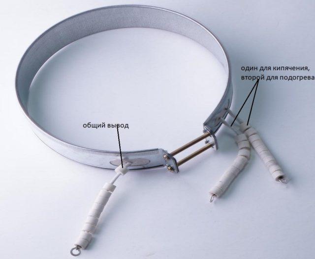 Выводы нагревательного элемента чайника-термоса