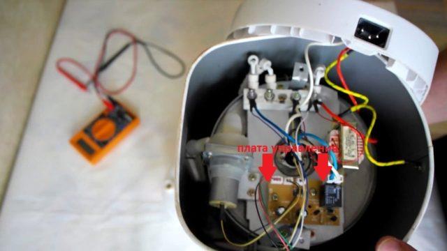БОлее сложный ремонт термопота - проверка платы управления