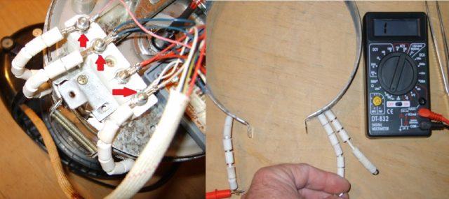 Замена греющего элемента в термопоте