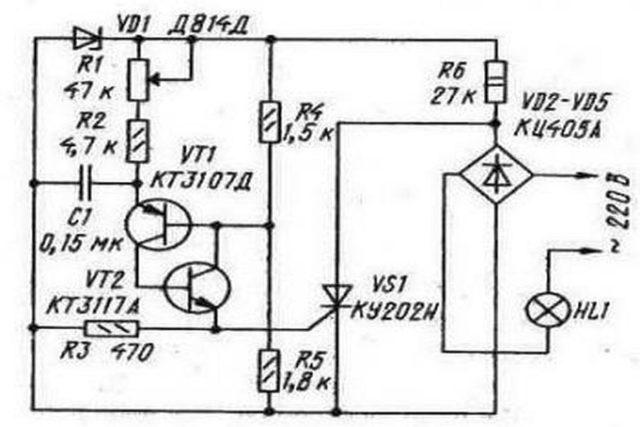 Схема регулятора паяльника на 220 В