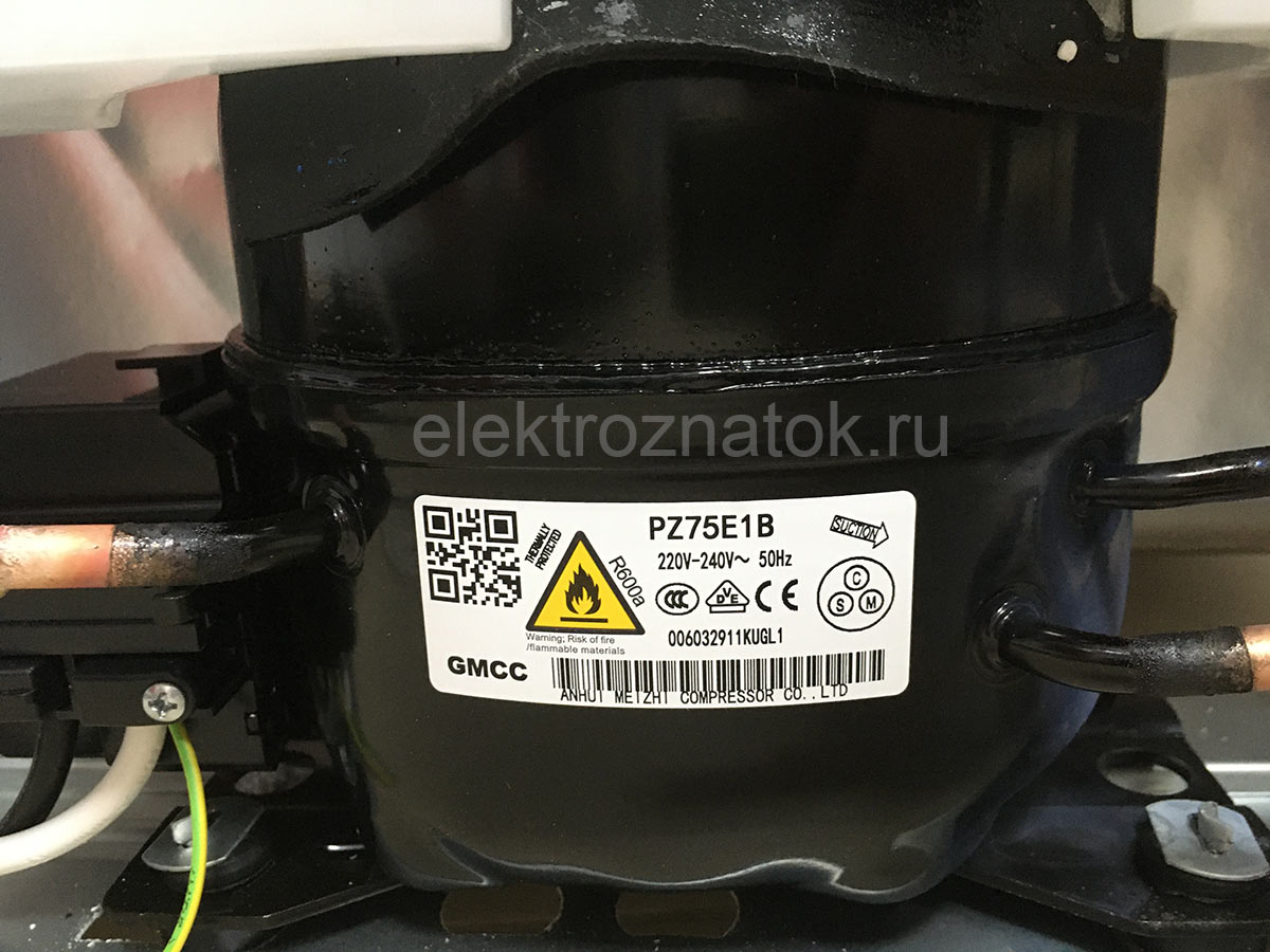 На конкретно взятом экземпляре холодильника BEKO CNKDN6270K20W установлен компрессор GMCC PZ75E1B